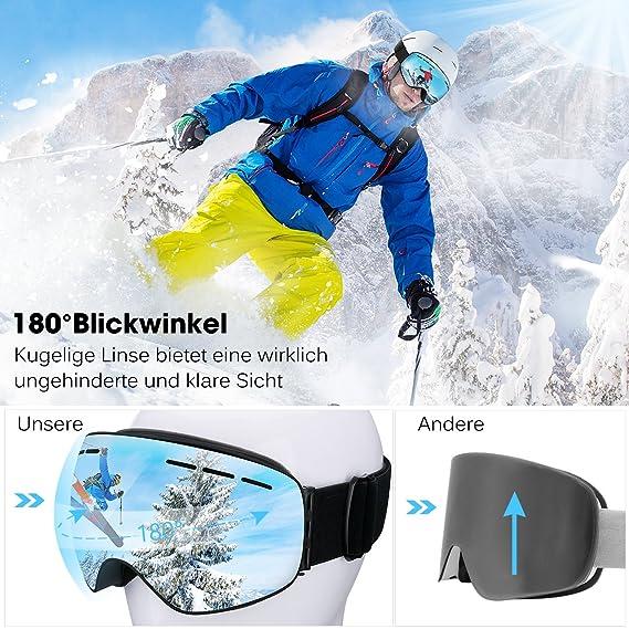 Masque de Ski Lunettes de Ski Femme et Homme  Amazon.fr  High-tech 9bc79c6366f5