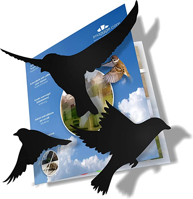 Leaves Shape Anti-Collision Window Clings Transparent Alert Bird Window Decal Assorted Stickers to Prevent People /& Bird Strikes on Window Glass 64 Pieces
