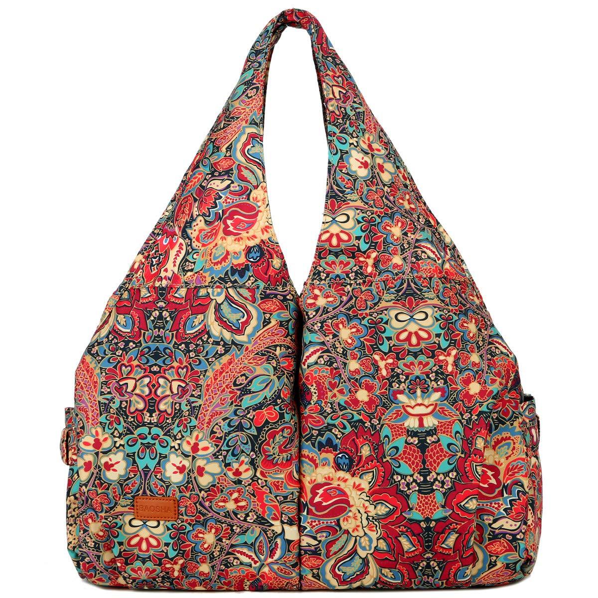 BAOSHA Women Yoga Gym Tote Bag Shopping Shoulder Bag Hangbag Muilti pockets Lightweight TB-07 (HS)