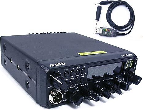 Alinco - Aparato de radioaficionado/transceptor DR-135DX (CRE 8900) 10 m, 11 m CB/Radioaficionado AM, FM, USB, LSB, CW + Cable USB y ¡gran pantalla ...