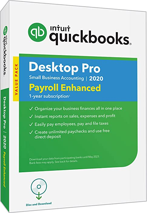 Top 9 Quickbooks Desktop Pro 2020 With Enhanced Payroll