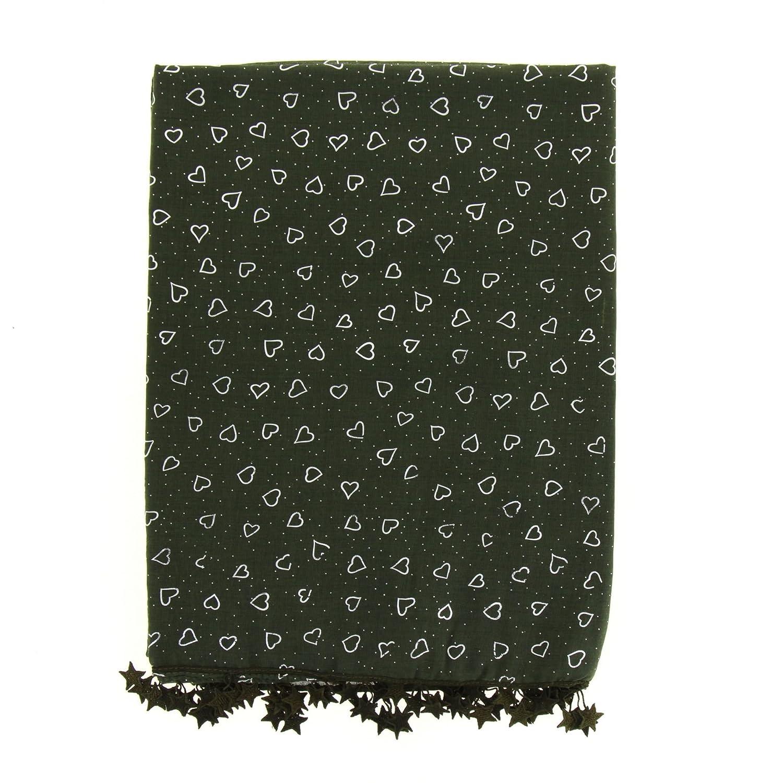 df480c9140a7 FASHIONGEN - Echarpe oversize coton Valentine - Vert  Amazon.fr  Vêtements  et accessoires
