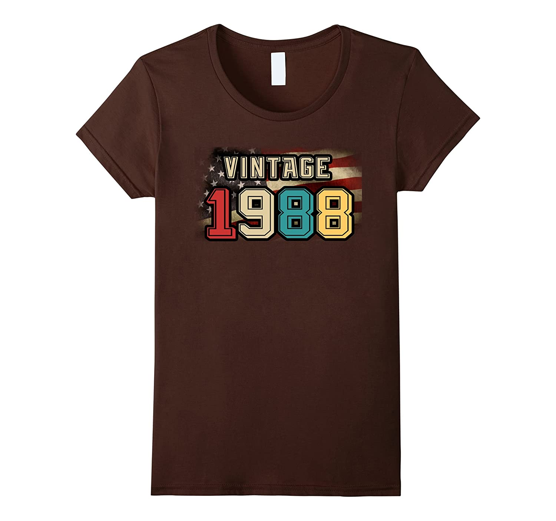 Mens Vintage 1988 Shirt Birthday-Awarplus