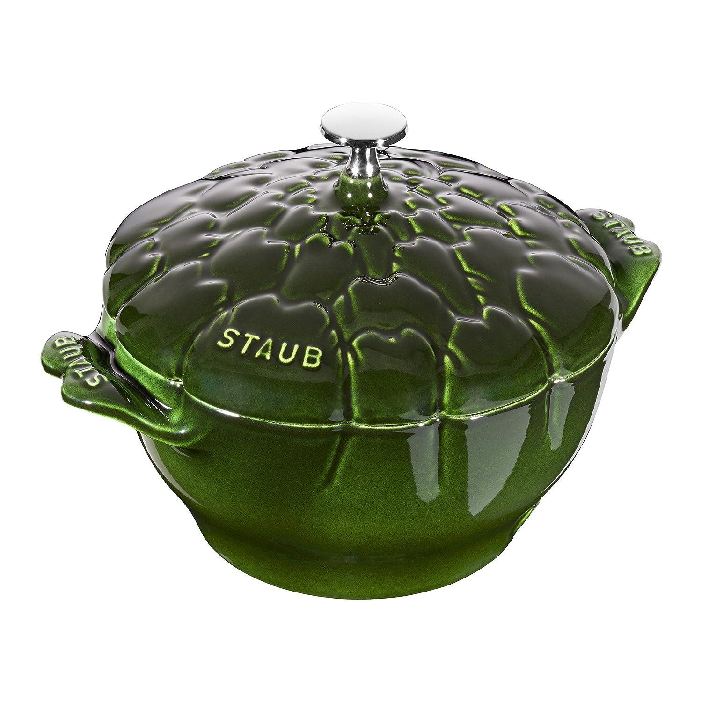 Staub Cast Iron 3-qt Artichoke Cocotte - Basil