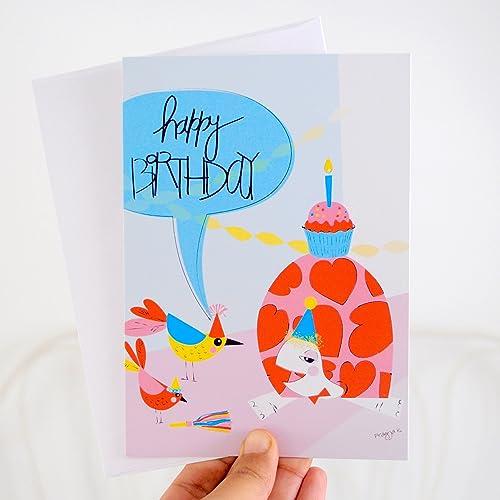 Amazon Turtle Birthday Card Pink Handmade