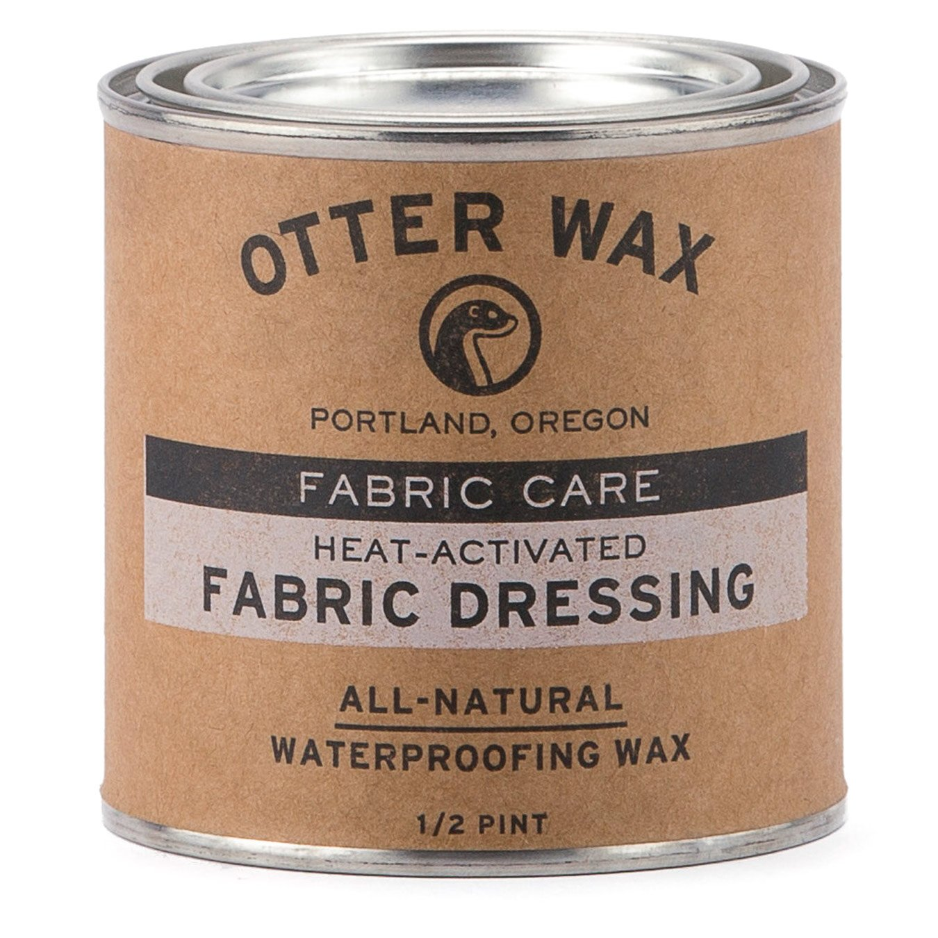Otter Wax Heat-Activated Fabric Dressing | 1/2 Pint | All-Natural Water Repellent | Made in USA by Otter Wax