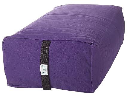 Amazon.com : Bheka Rectangular 100% Cotton Yoga Bolster ...