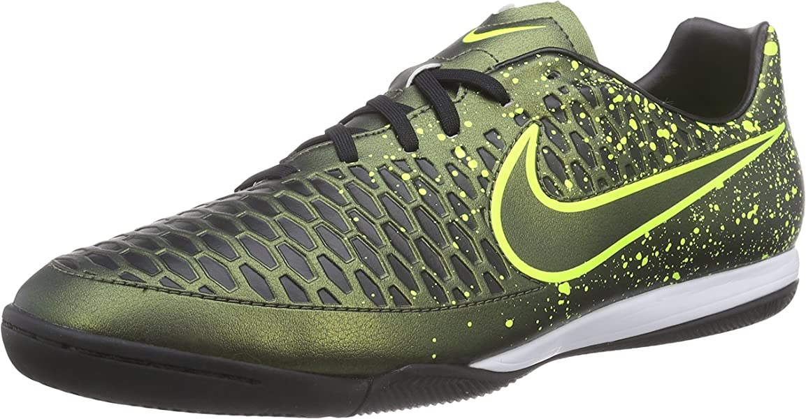 38f53a34c Nike Mens Magista Onda (IC) Indoor-Competition Soccer Shoe Dark Citron Black