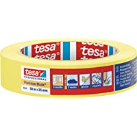 tesa UK Ltd 43340000100 Precision Mask Indoor-Razor Sharp EdgeMasking Tape for Painting and Decorating, Residue Free Removal, 50 m x 25 mm, 25mm