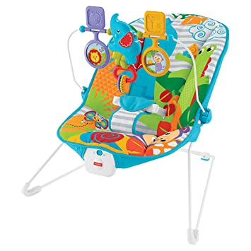 cec86ccce74f Fisher-Price Animal Kingdom Baby Bouncer - Colourful - Vibrating 2 ...