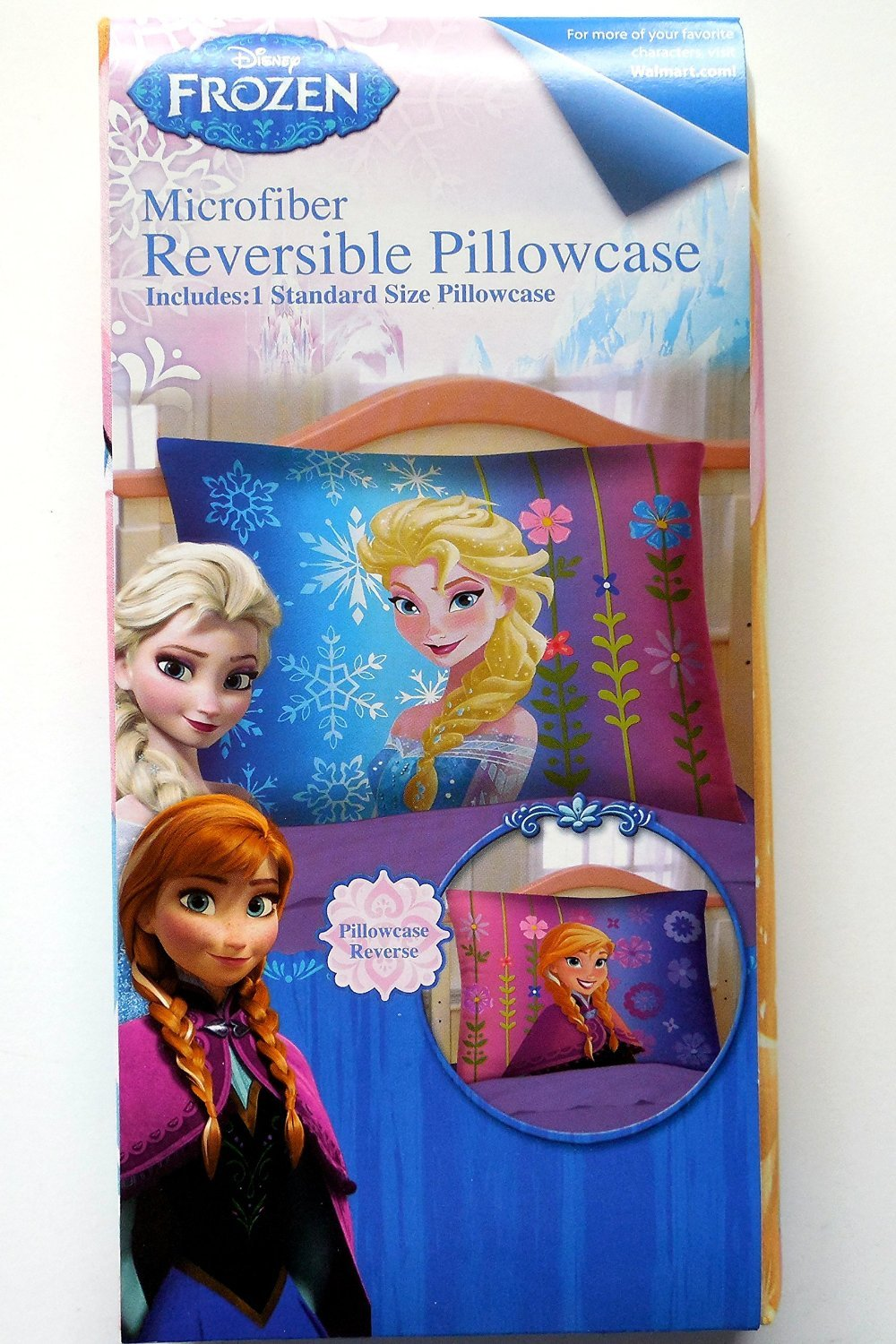 Disney Frozen Microfiber Reversible Pillowcase Spring Blooms
