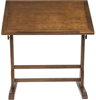 Delightful Studio Designs 36 X 24 Inch Vintage Drafting Table, Rustic Oak
