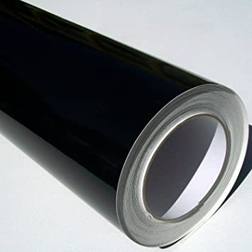 Self Adhesive Sticky Back Gloss Black Sign Vinyl 5m X 61cm Roll