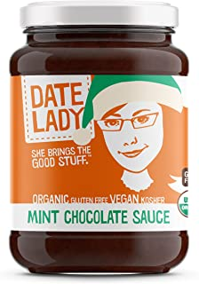 product image for Date Lady Premium Organic Mint Chocolate Sauce - 10.7oz Glass Jar (Pack of 1)