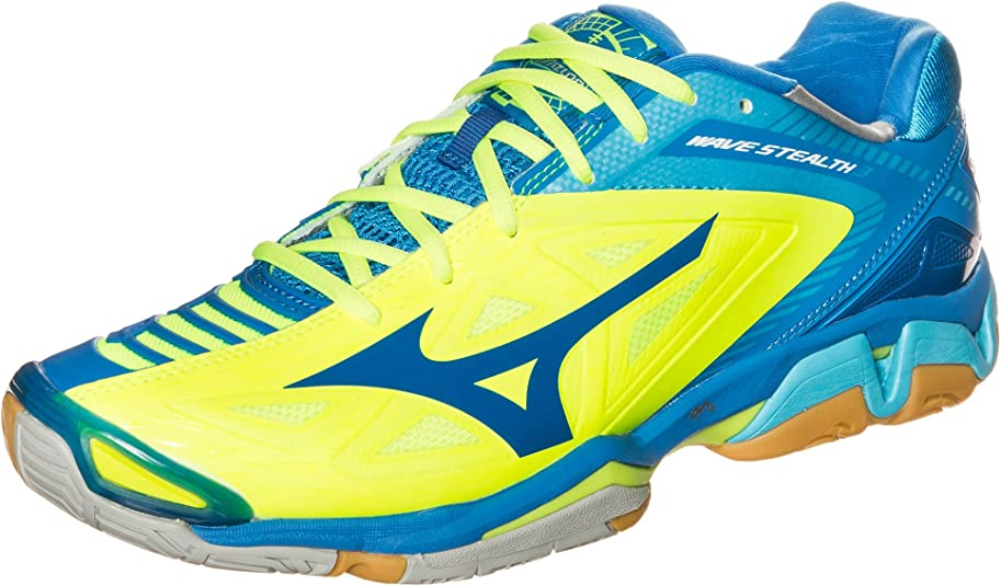 Mizuno Uomo Wave Stealth 3 scarpe da basket, neongelb