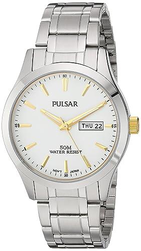 Pulsar Men s PXN203X Analog Display Japanese Quartz Silver Watch