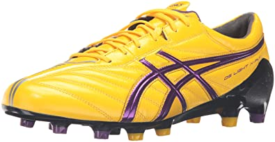 ASICS Men's DS Light X-Fly K Soccer Shoe,Yellow/Purple/Black