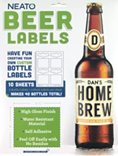 amazon com beer labels waterproof blank to be personalized beer