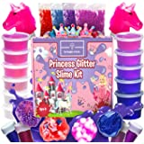 Princess Unicorn Slime Kit for Girls - Fluffy Unicorn Slime, Glow-in-The-Dark Slime Mixing Fun, 12 Colors - Stretchiest Slime
