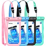 """Mpow Waterproof Case, Universal IPX8 Waterproof Phone Pouch Underwater Phone Case Bag for iPhone X/8/8P/7/7P, Samsung Galaxy S9/S9P/S8/Note 8, Google Pixel/HTC up to 6.0"""" (Pink Blue Black Green)"""
