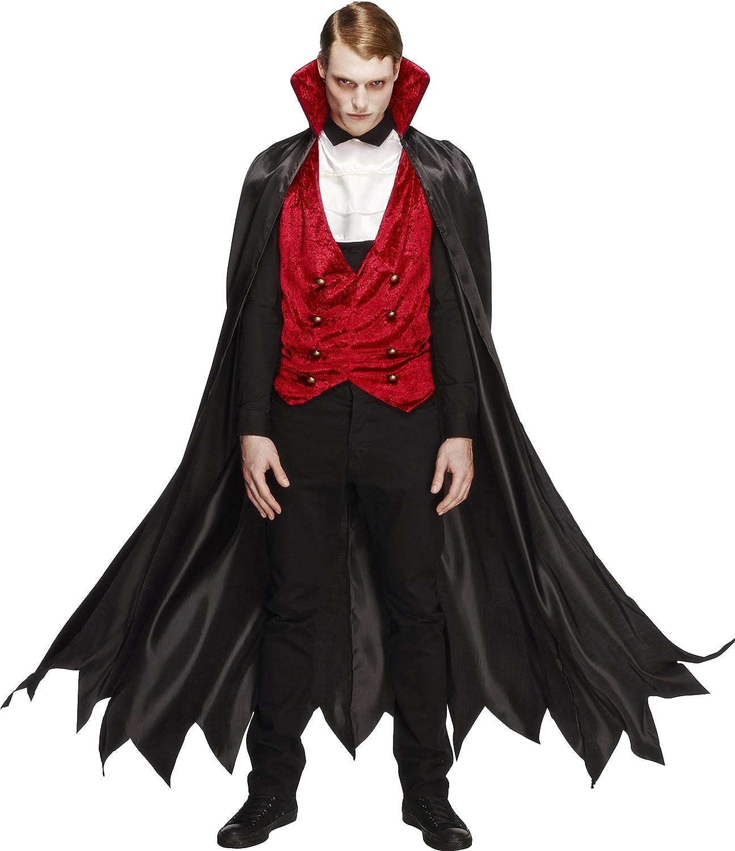 Smiffys-29991L Halloween Disfraz Fever de Vampiro, con Chaleco ...