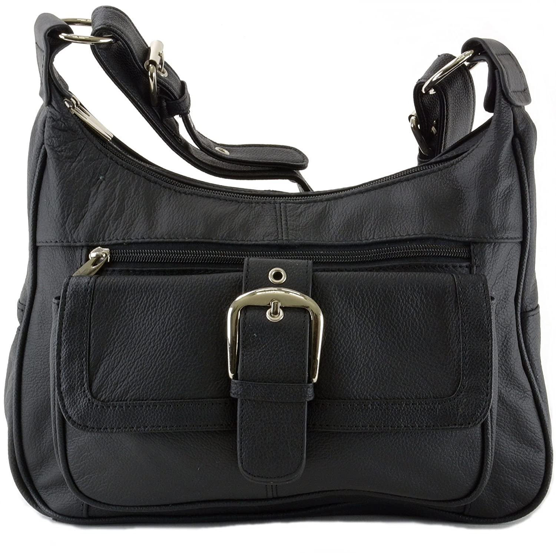 Womens Genuine Leather Shoulder Bag Tote Organizer Purse Hobo Handbag