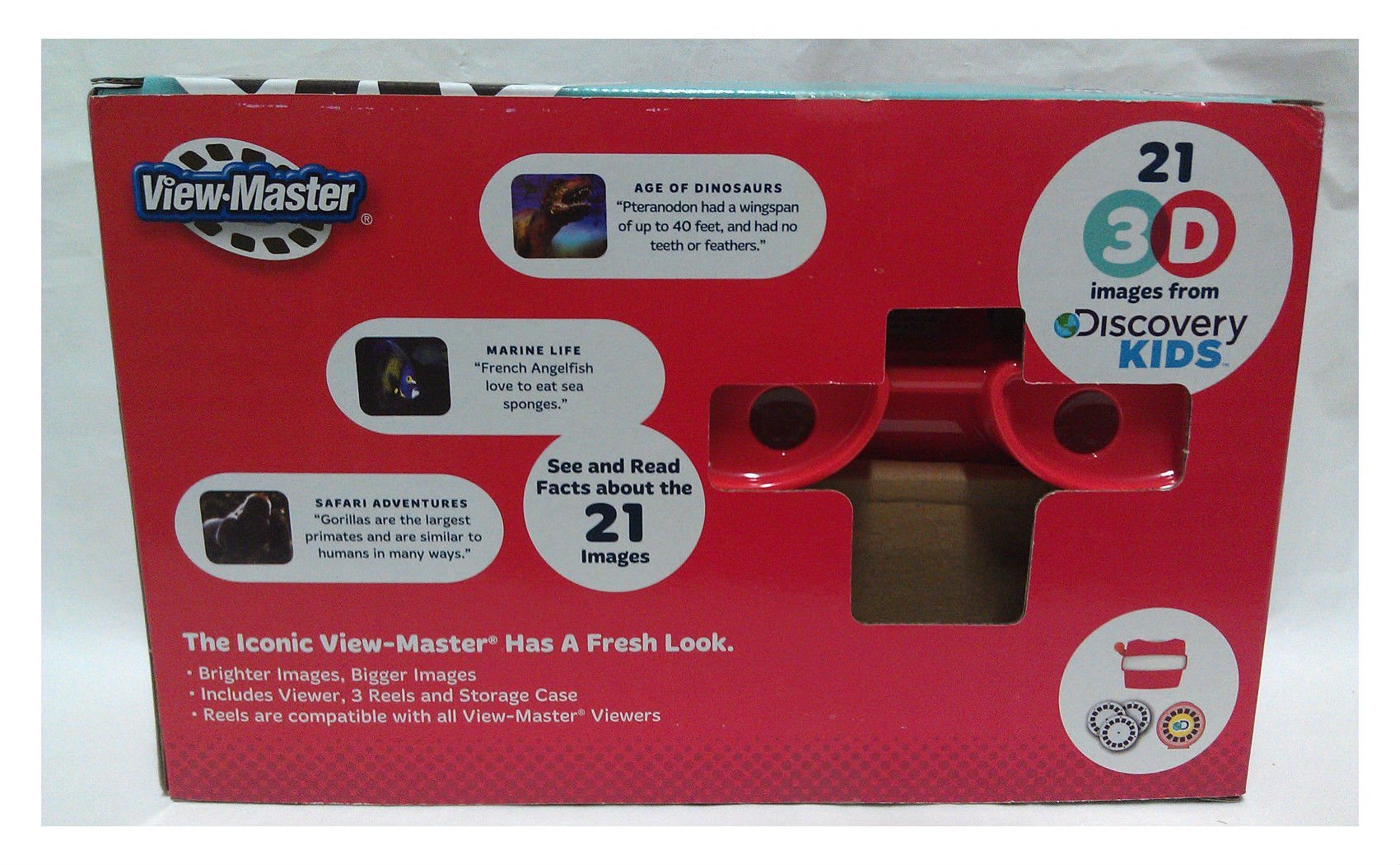 VIEW-MASTER VIEWMASTER 21 3D images DISCOVERY KIDS Dinosaurs marine safari NEW by na (Image #2)