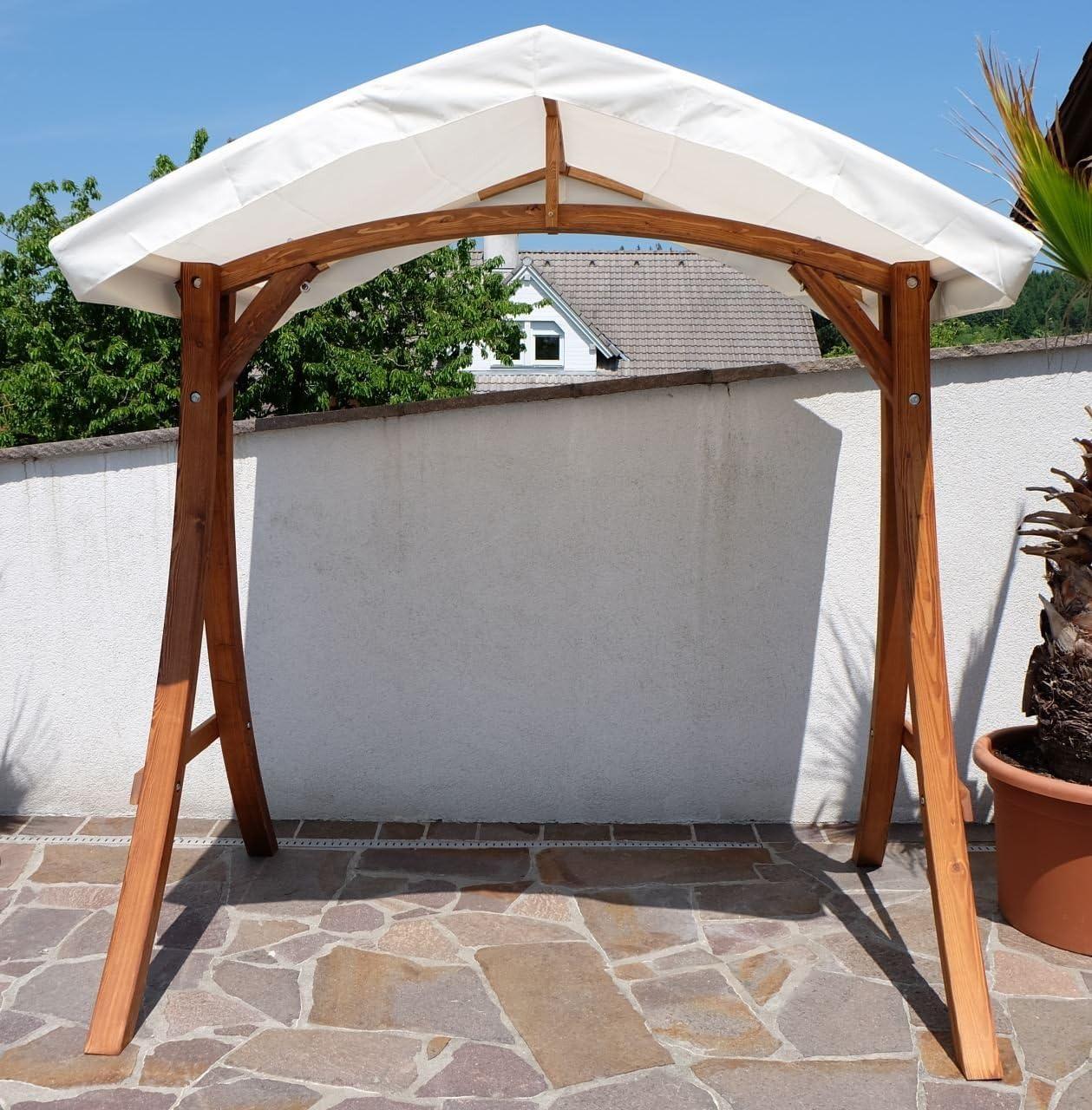 Design Hollywoodschaukel Gestell KUREDO/ARUBA aus Holz Lärche ...