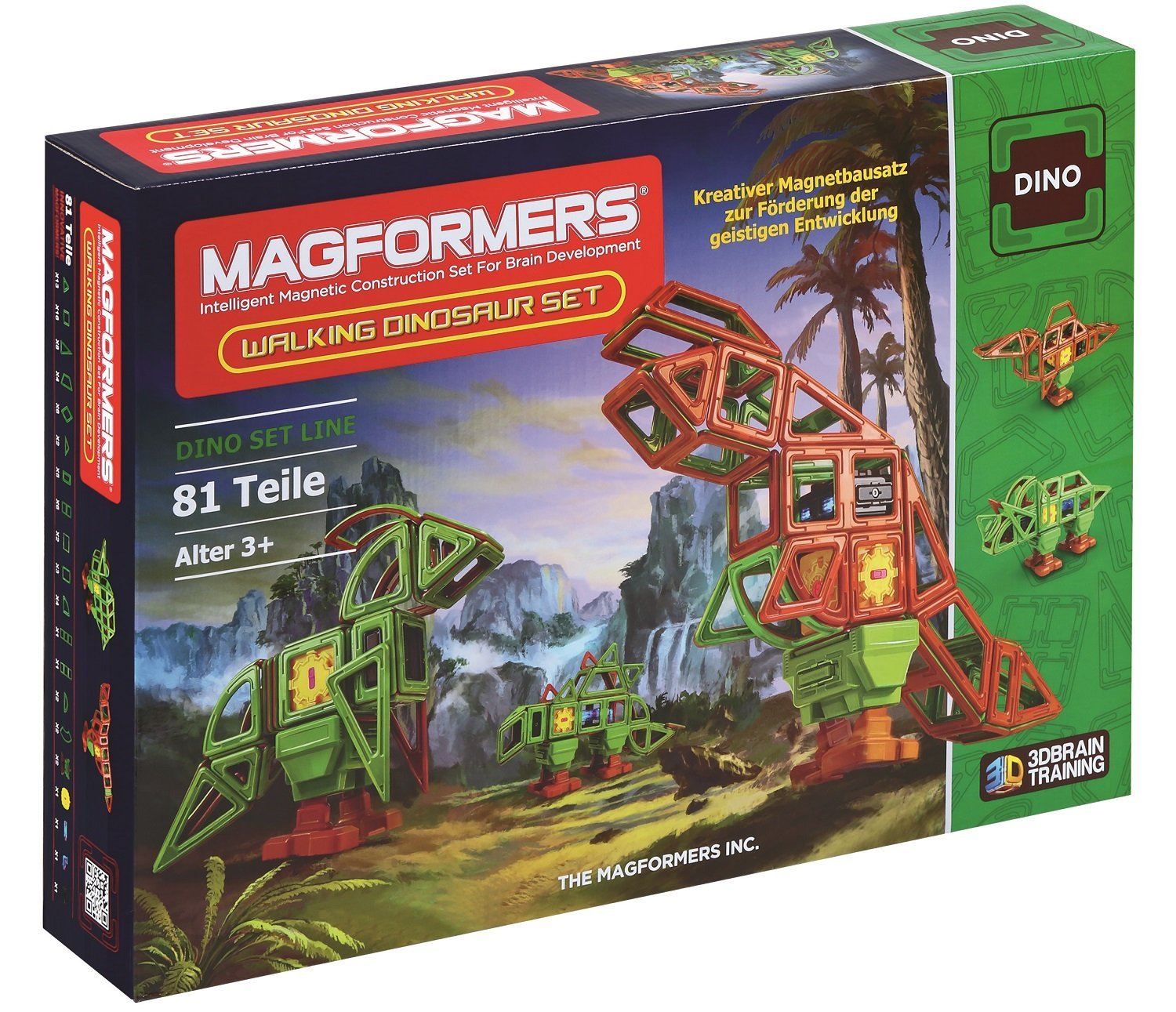 Magformers ''Walking Dinosaur Magnetic Toy (81-Piece)