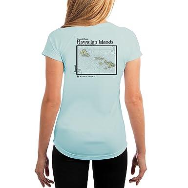 91562fbe2 Altered Latitudes Coastal Classics Hawaiian Islands Chart Women's UPF 50+ Short  Sleeve T-Shirt