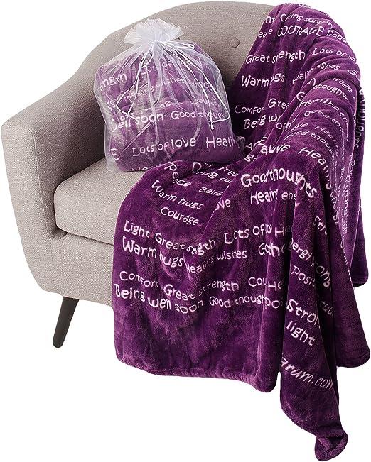 BlankieGram.com Inc. Pink BlankieGram Healing Thoughts Blanket The Ultimate Healing Gift