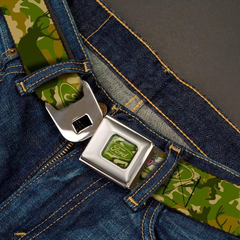 FORD Deer Hunter Camo Olive Webbing Seatbelt Belt X-Large
