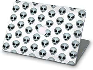 BroStore MacBook Case Art Designed Protective Cover for Laptop Modern Hard Case with Printed Bottom Emoji Pattern iOS (iOS Emoji Alien, Pro Retina 13 (A1502 & A1425))