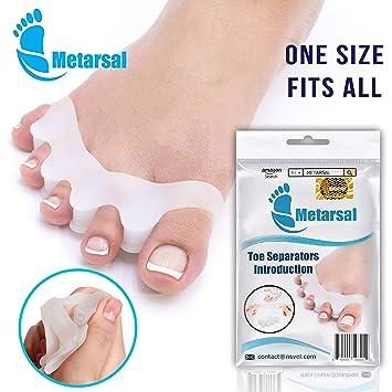 Metarsal - Separadores de Goma para Dedos de los pies de Gel ...
