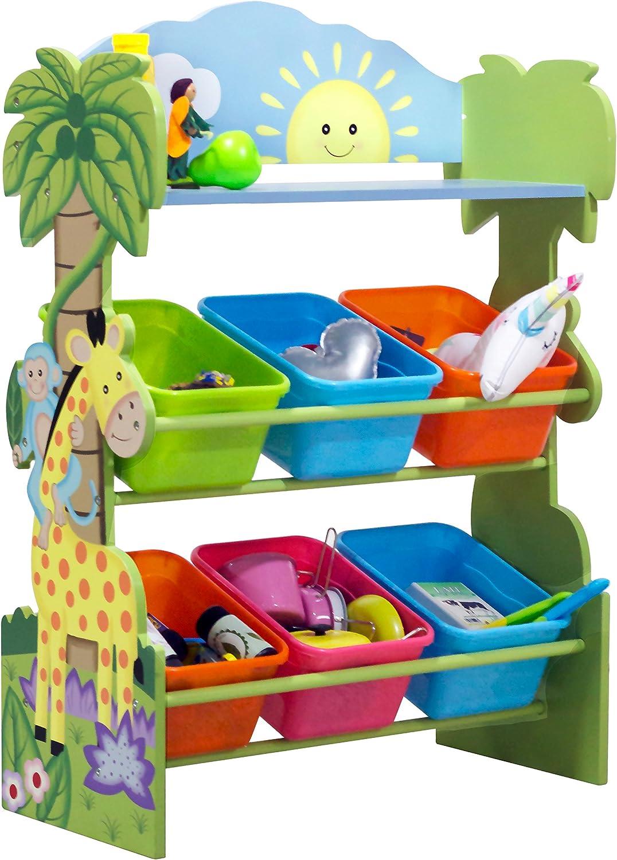 Fantasy Fields - Toy Furniture -Sunny Safari Toy Organizer with Storage Bins