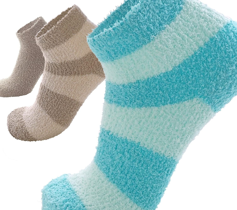 3-Pack Incredibly Soft Fuzzy Socks