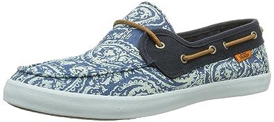 Vans W CHAUFFETTE NAVY/WHITE, Sneakers basses femme, Bleu (Navy/White), 41 EU (7.5 Femme UK)