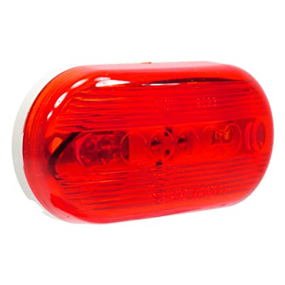 "Vehicle Safety Manufacturing 1259 Red 4"" Oval Catseye Clearance Marker Light: Automotive"