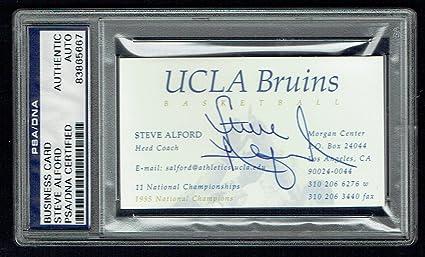 Steve Alford Ucla Bruins Basketball Coach Signed Autograph Business