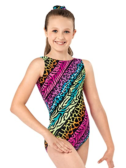 57e2d2696 Amazon.com  Girls Jungle Mania Gymnastics Tank Leotard G619CMLTXL ...