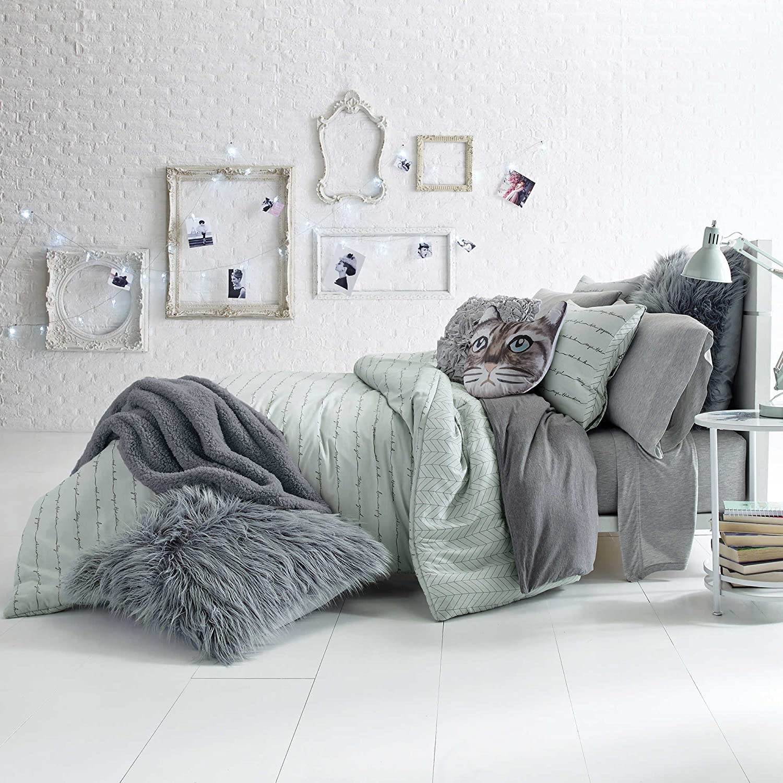 GlamスクリプトAqua Queen / Full Comforter Set、コットン B076BBQ8K3