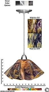 product image for Jezebel Signature Lily Pendant Large. Hardware: Nickel. Glass: Wild Iris