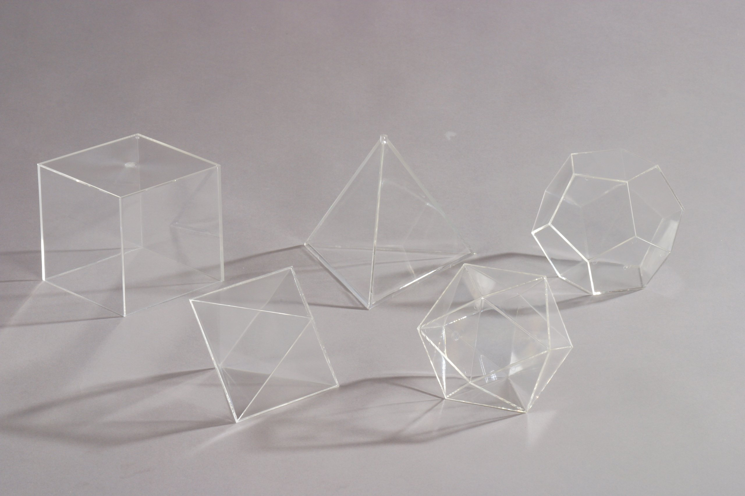 Platonic body made of plexiglass by GH Günter Herrmann