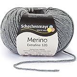 Schachenmayr 409807555 Laine de mérinos extra-fine, Laine, Mittelgrau Meliert, 10 x 10 x 7 cm