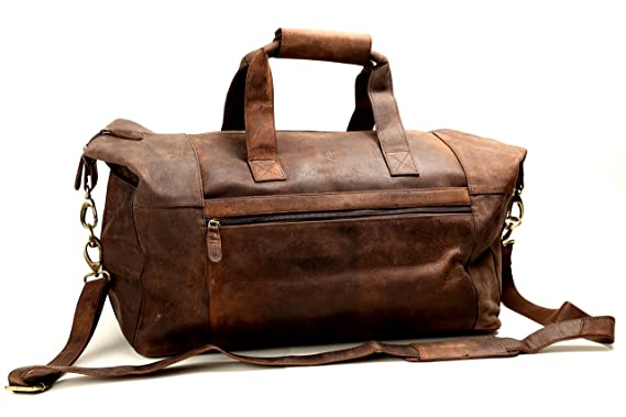 80be505d6a Leather Travel Duffel Bag Overnight Weekend Luggage Carry On Airplane  Underseat