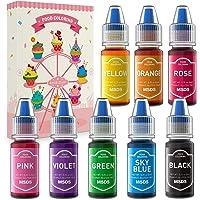 Colorante Alimentario Set 8 Colores Abree colorantes alimentarios reposteria Liquido Food Colouring Alto Concentrado…