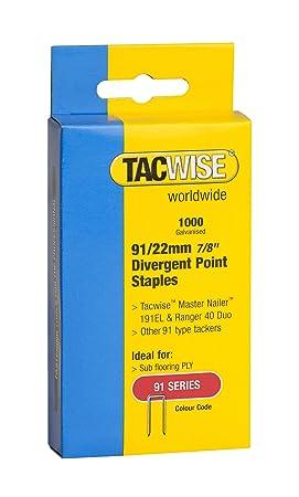 Tacwise 0288 Grapas de Acero Inoxidable y Corona Estrecha de ...