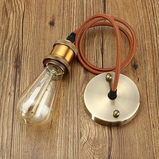 KINGSO E27 Hängelampe Kupfer Vintage Lampenfassung Retro