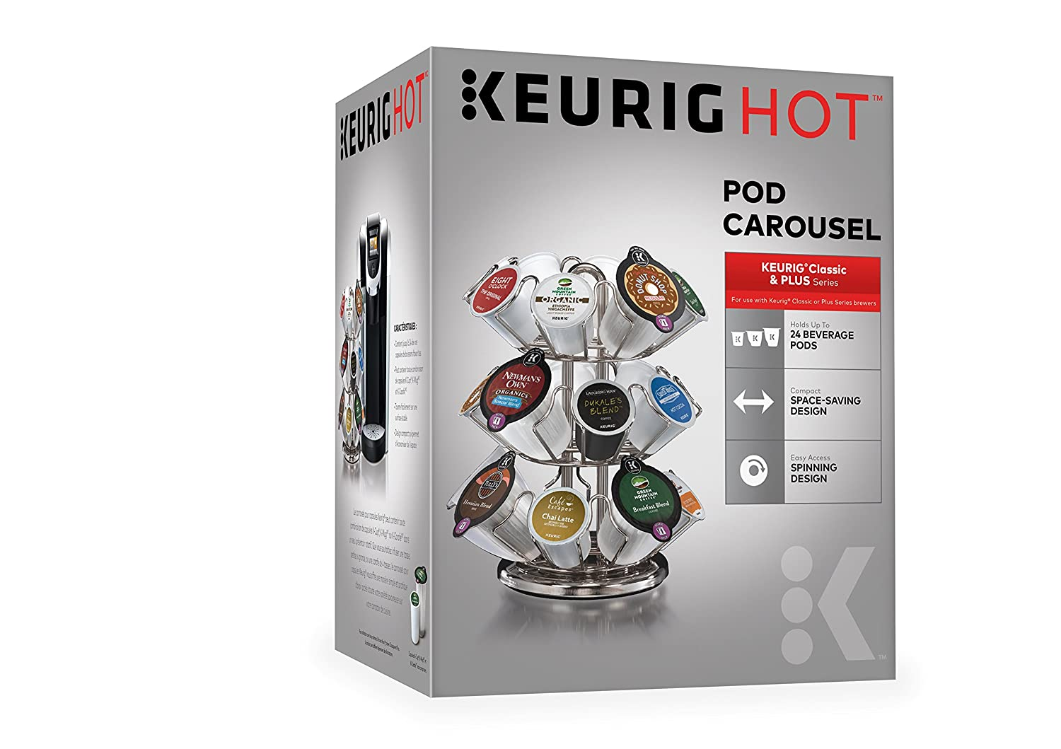 Keurig 119351 Pod Carousel, Silver (Updated Model)