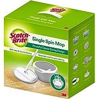 3M Scotch Brite T6 Single Bucket Spin Mop - Compact/Clean / 100% Microfiber/Trap Dust